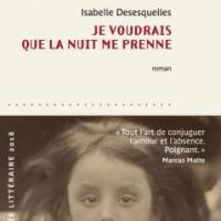 Je voudrais que la nuit me prenne, Isabelle Desesquelles... Rentrée littéraire 2018